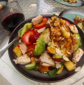 We paired our wine with this great summer salad!